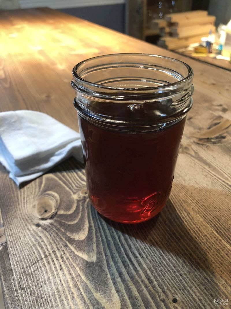 Mason Jar of Greg's Wonder Finish