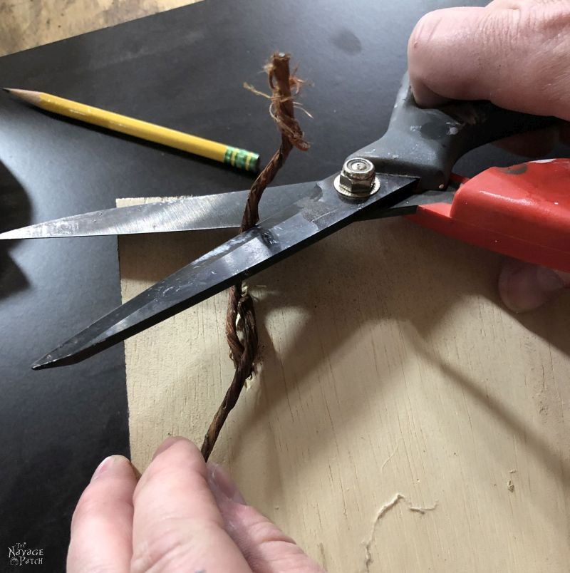 scissors cutting craft wire