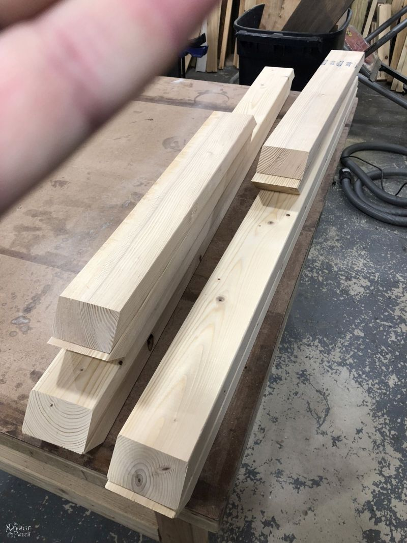 cut lumber on a table
