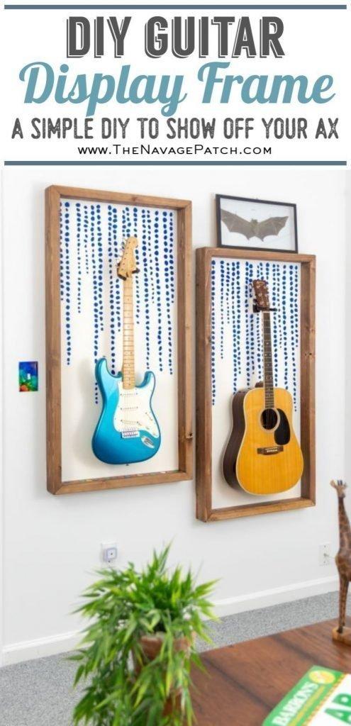 DIY Guitar Display Frame pin image