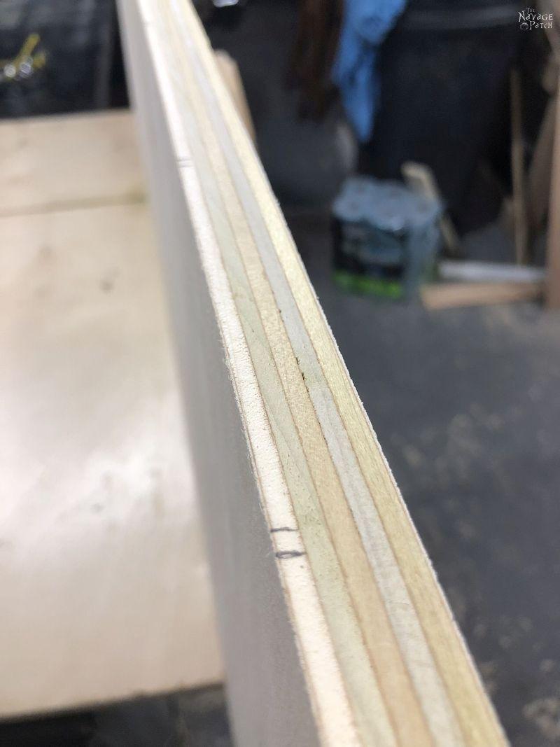 side grain shot of plywood