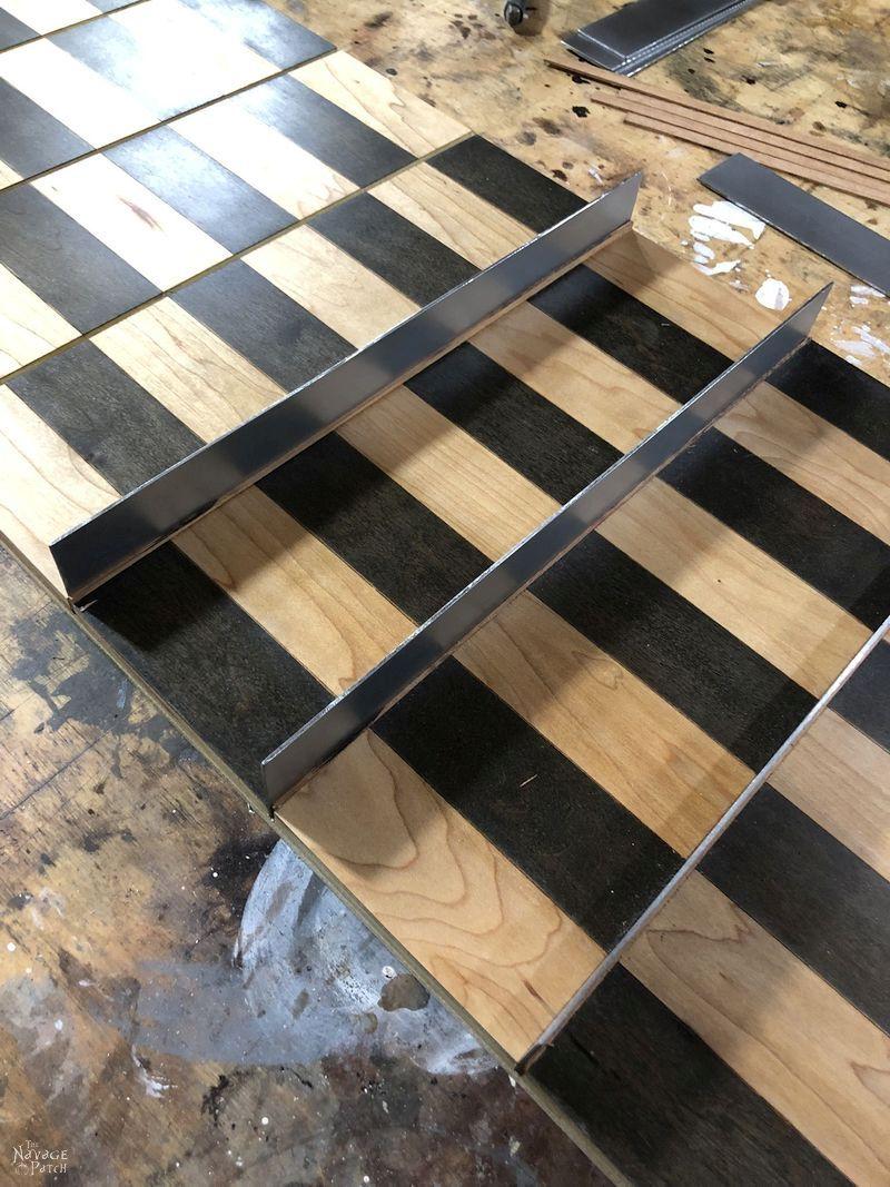 installing metal platforms in a diy vertical chess board