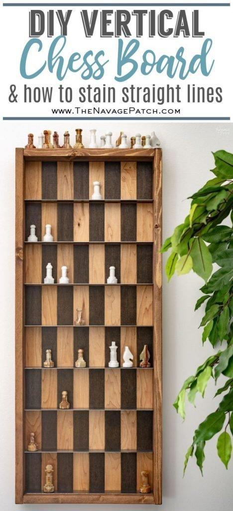 DIY Vertical Chess Board pin image