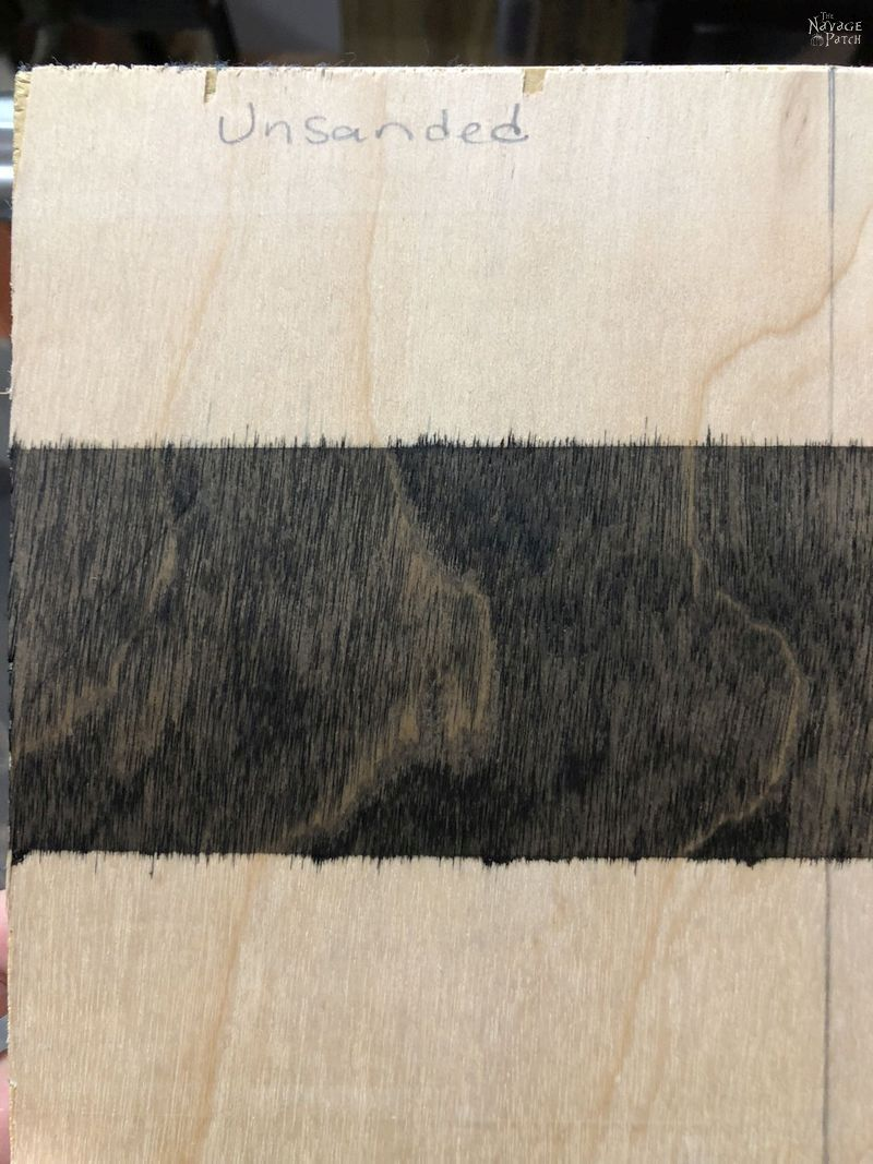 plywood with black stain