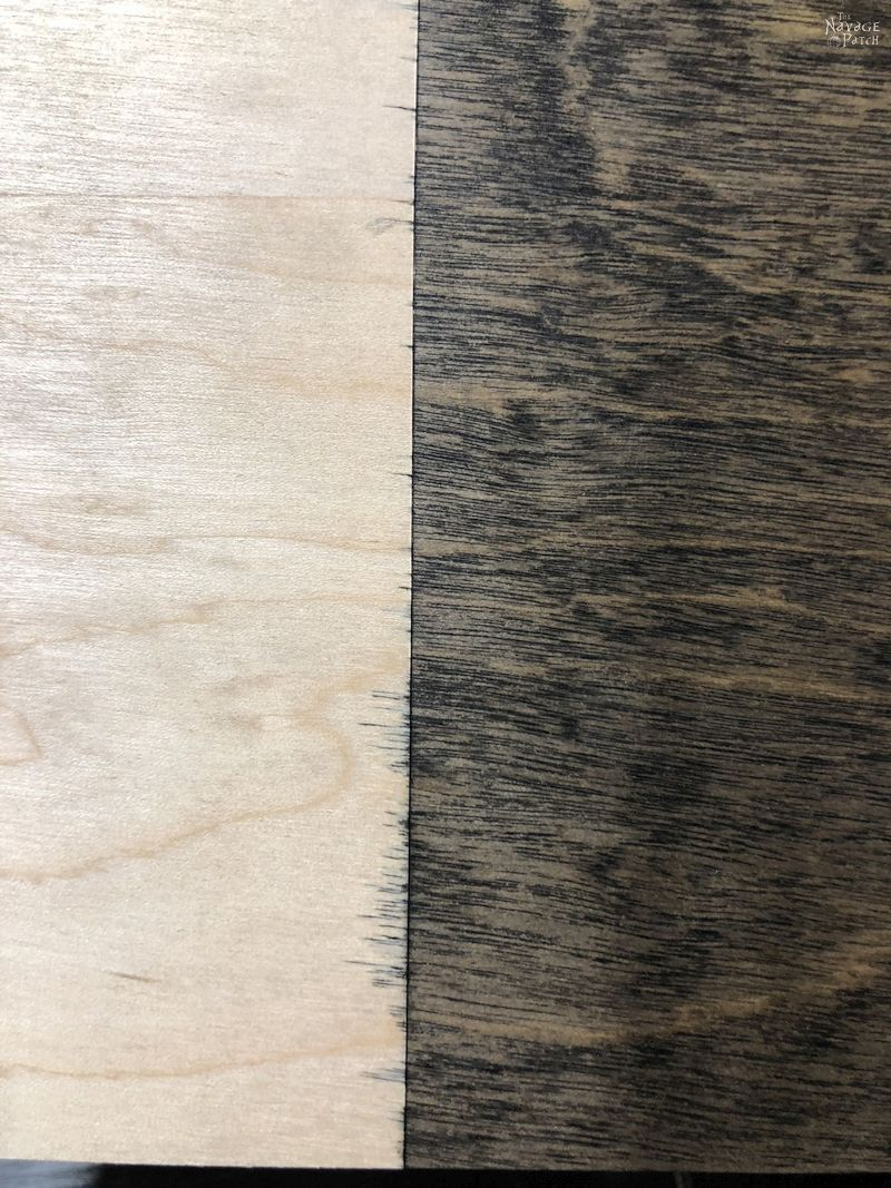 stained plywood