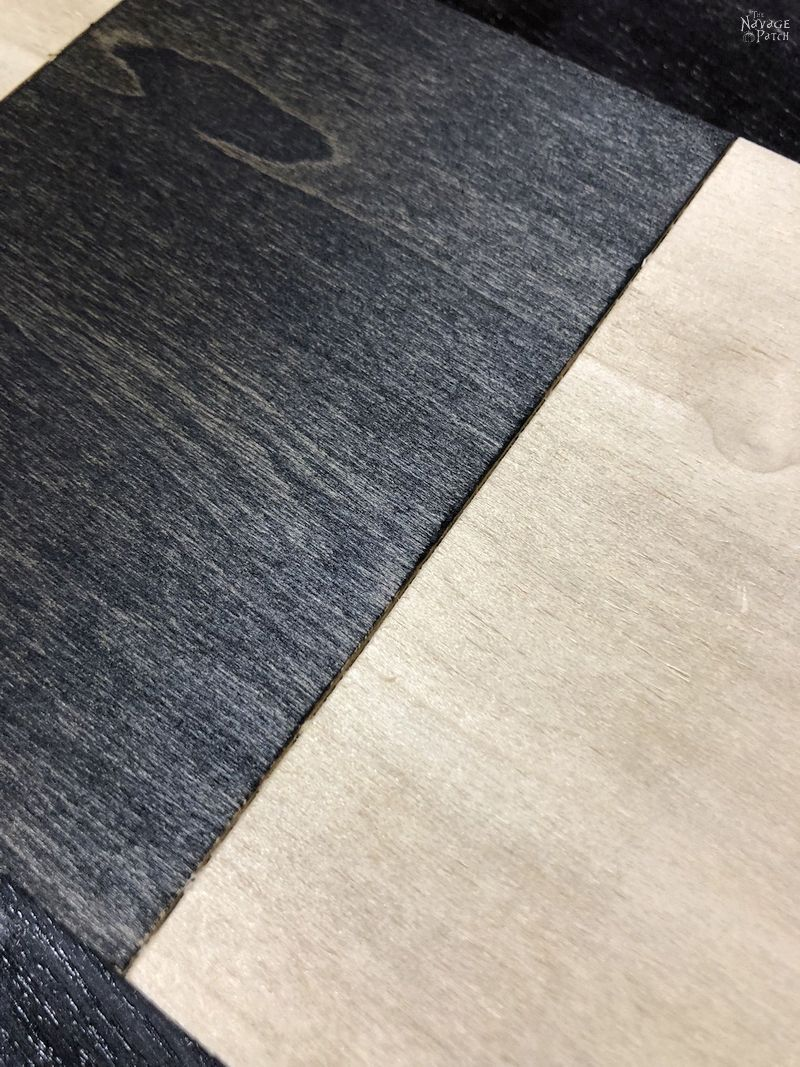 clean stain line on plywood