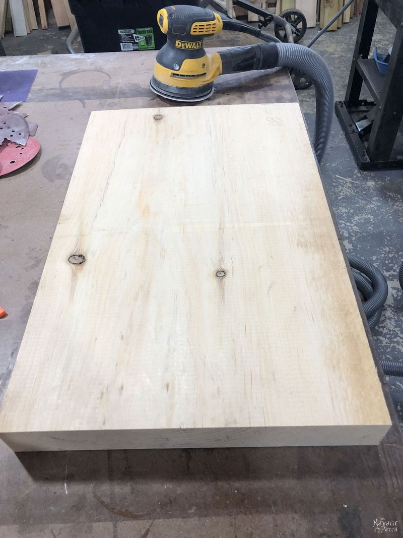 large piece of pine on a table