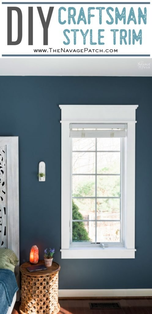 DIY Craftsman Style Trim for Window and Doors pin image