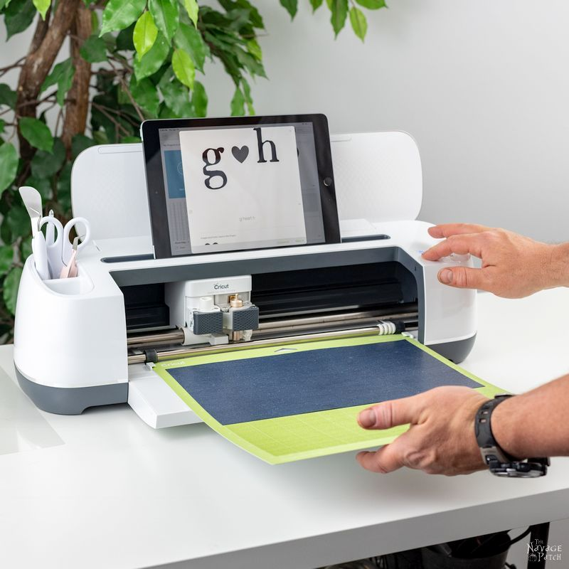 using a Cricut Maker to cut iron-on vinyl