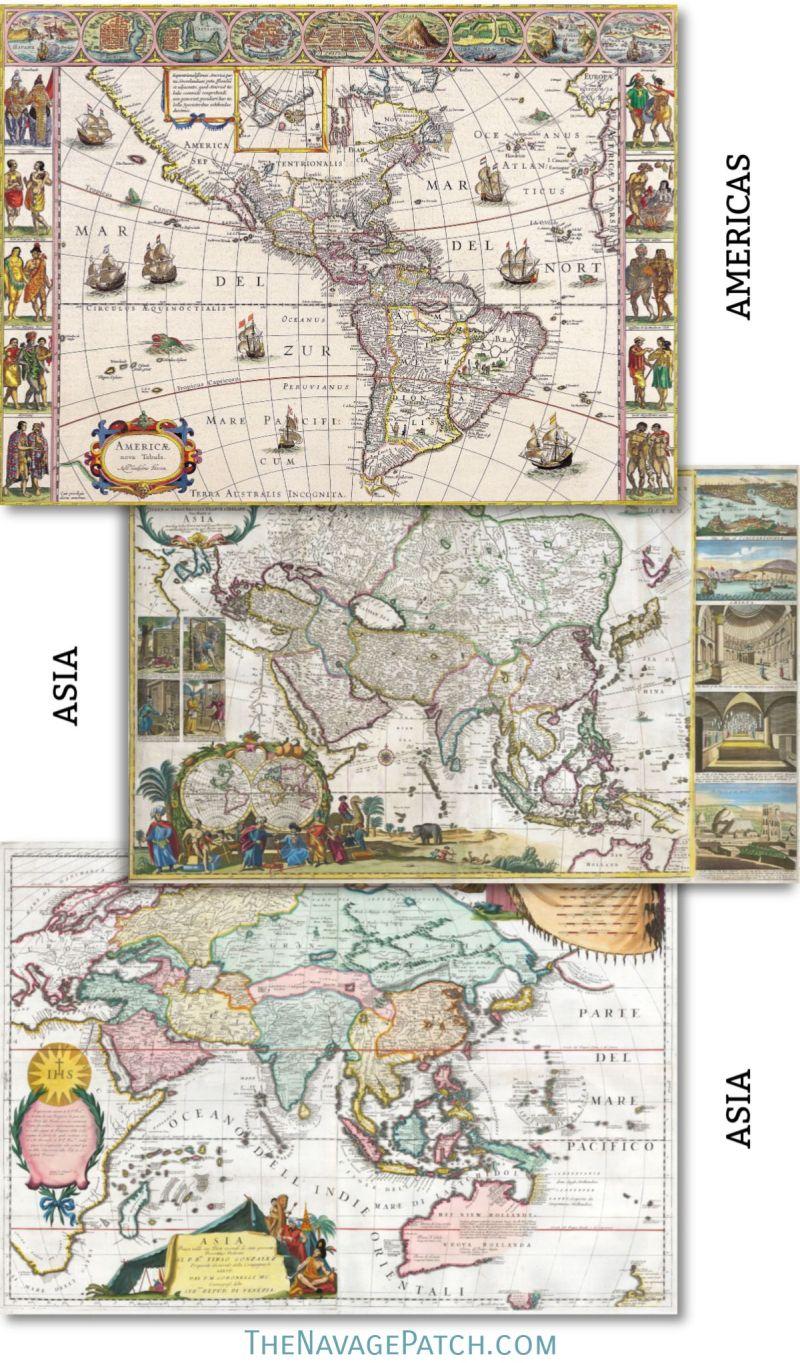 Free Printable Vintage Maps