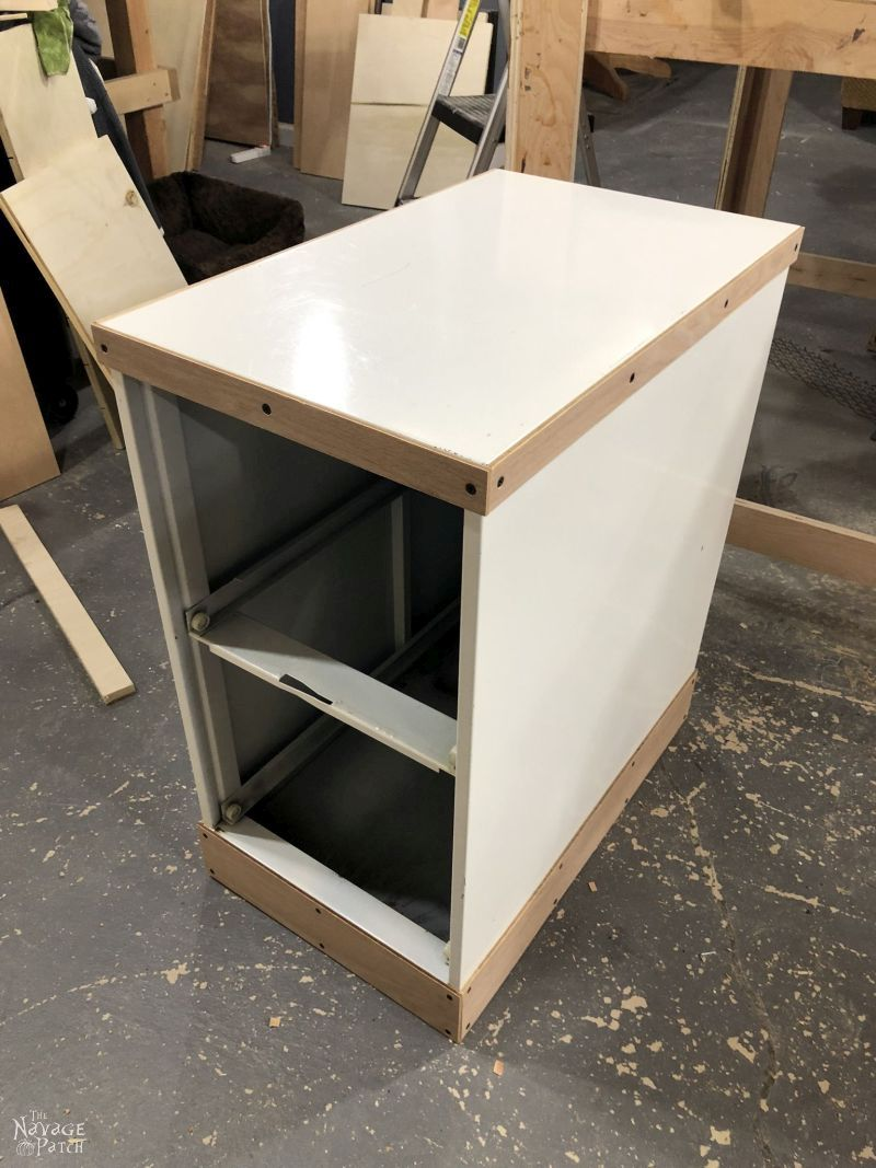 metal filing cabinet getting a makeover