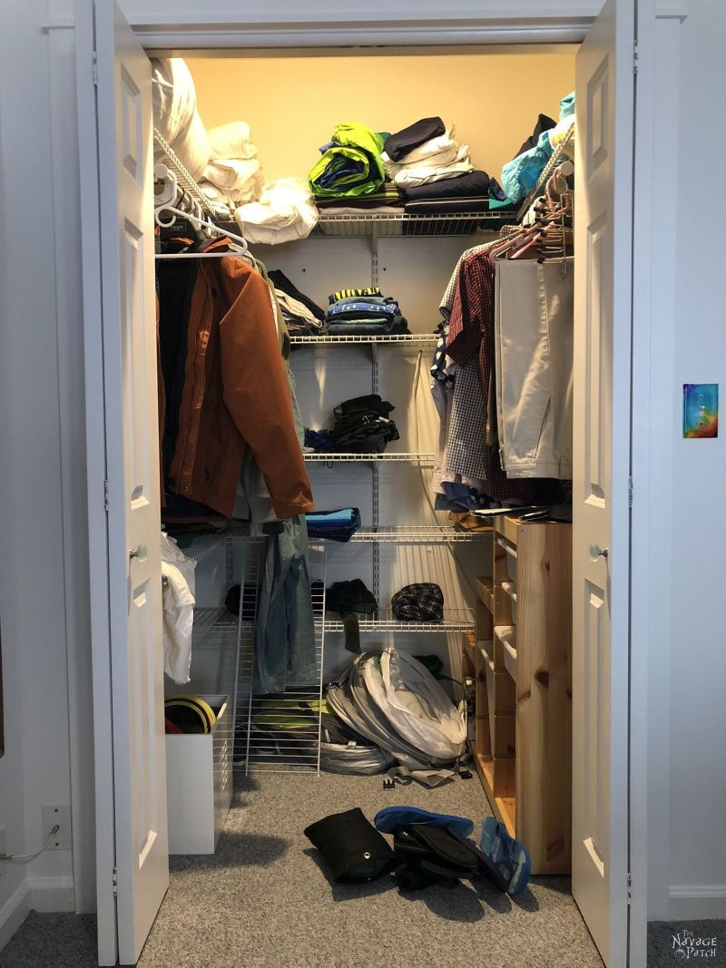 messy small closet