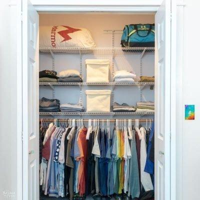 small closet makeover | TheNavagePatch.com