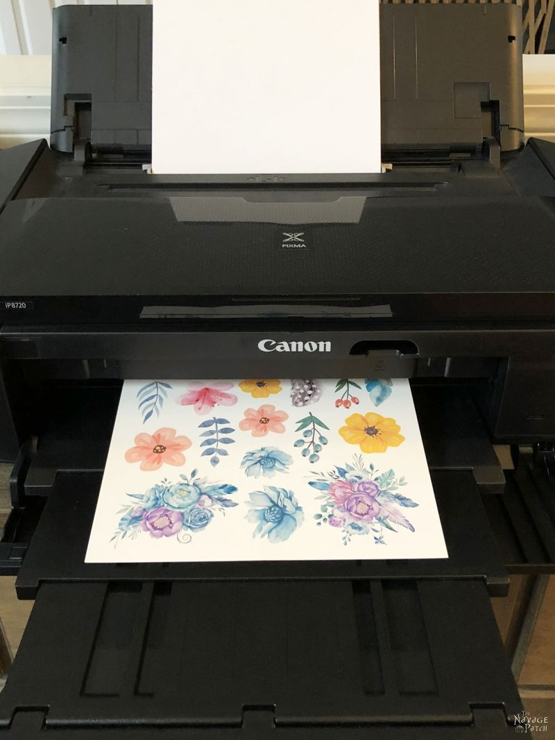 printing the watercolor tattoo designs