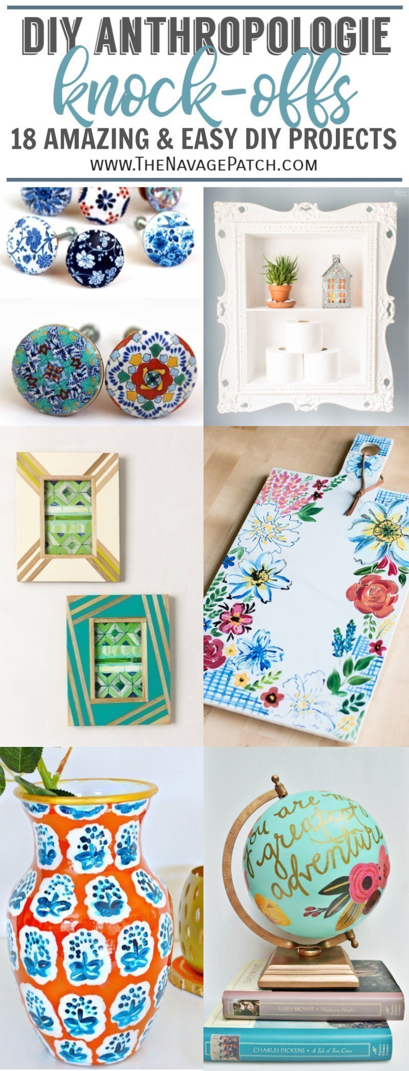 Amazing DIY Anthropologie Knock-offs | TheNavagePatch.com