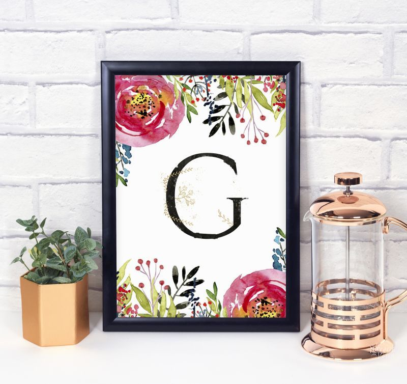 Beautiful Free Printable Floral Monograms | TheNavagePatch.com