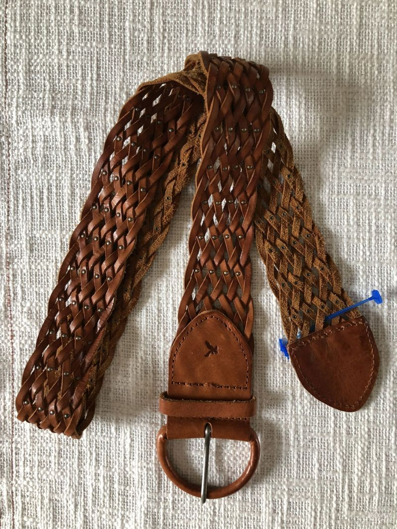 old braided leather belt
