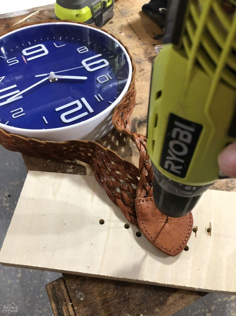 drilling a hole in leather