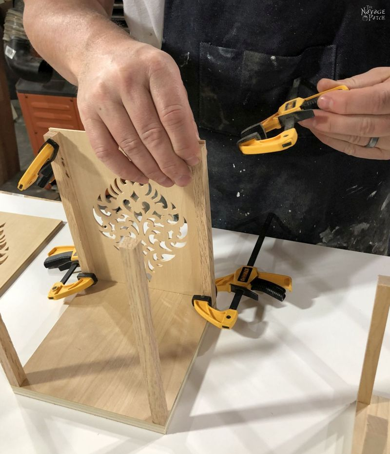 assembling a moroccan candle holder