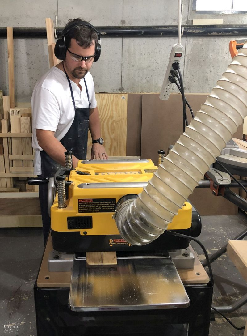 running boards through a thickness planer