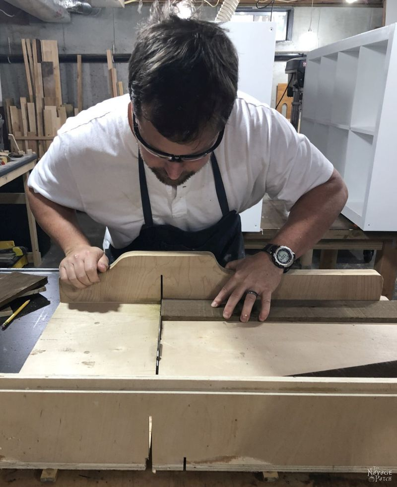 cutting boards on a table saw