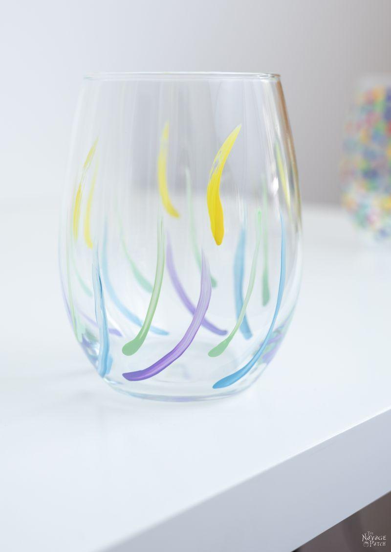 DIY Painted Wine Glasses | TheNavagePatch.com