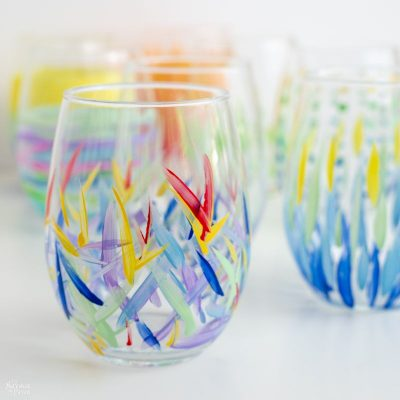 DIY Painted Wine Glasses | TheNavagePatch.com