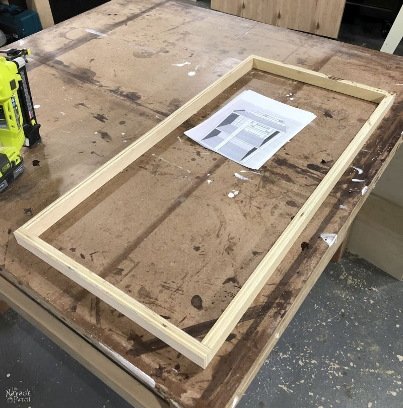 assembling a hamper base from plywood