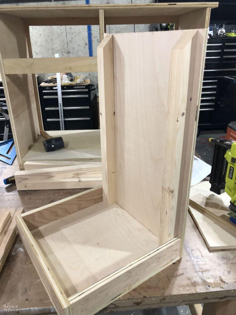 building a tilt out laundry hamper