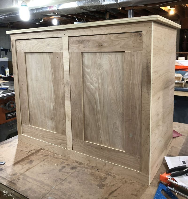 diy laundry hamper before sanding and staining