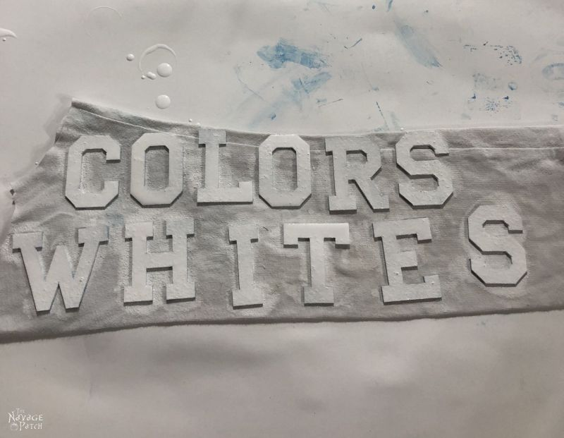 painting wood letters white