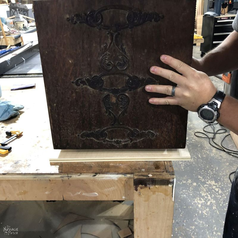 building storage cart from antique sewing machine drawers