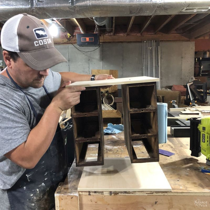 building a cart from old sewing machine drawers