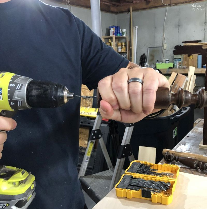 drilling into a spindle