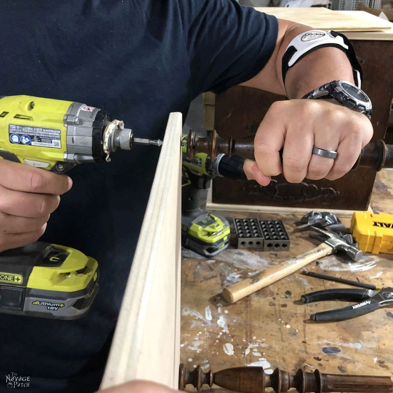 attaching a spindle to plywood
