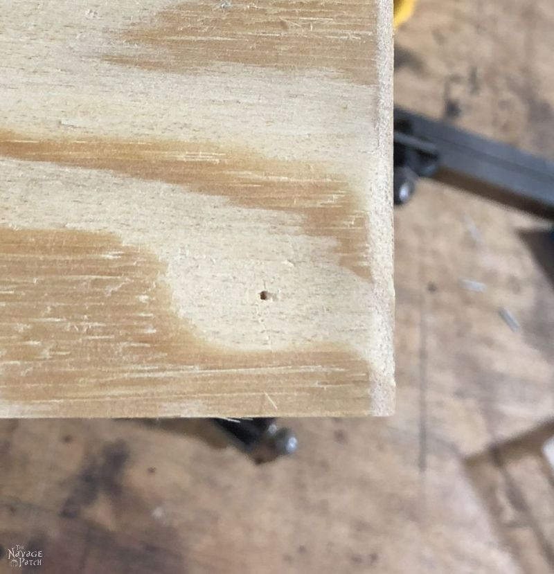 plywood with a hole in it