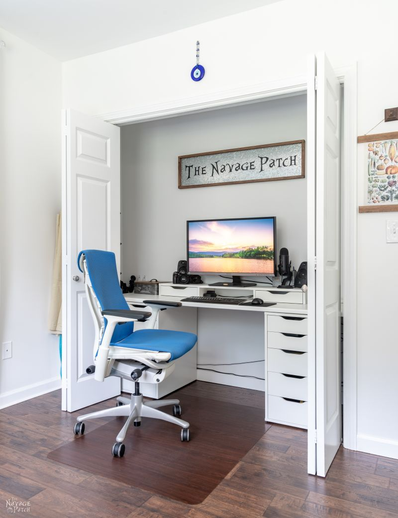 small office in a closet