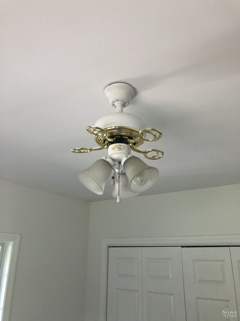 ceiling fan with blades removed