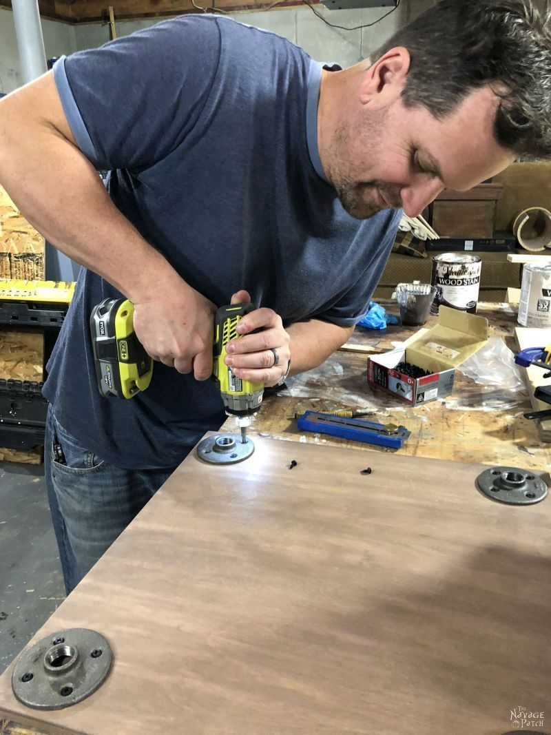 drilling flanges into plywood