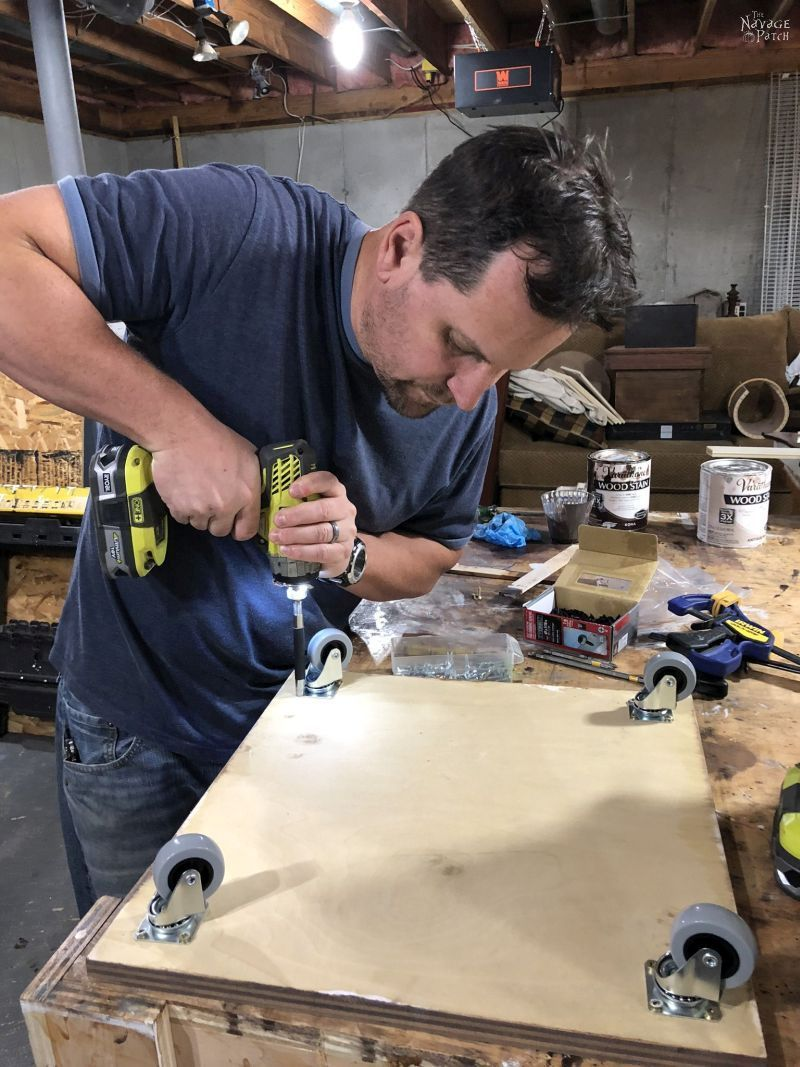 installing casters on plywood
