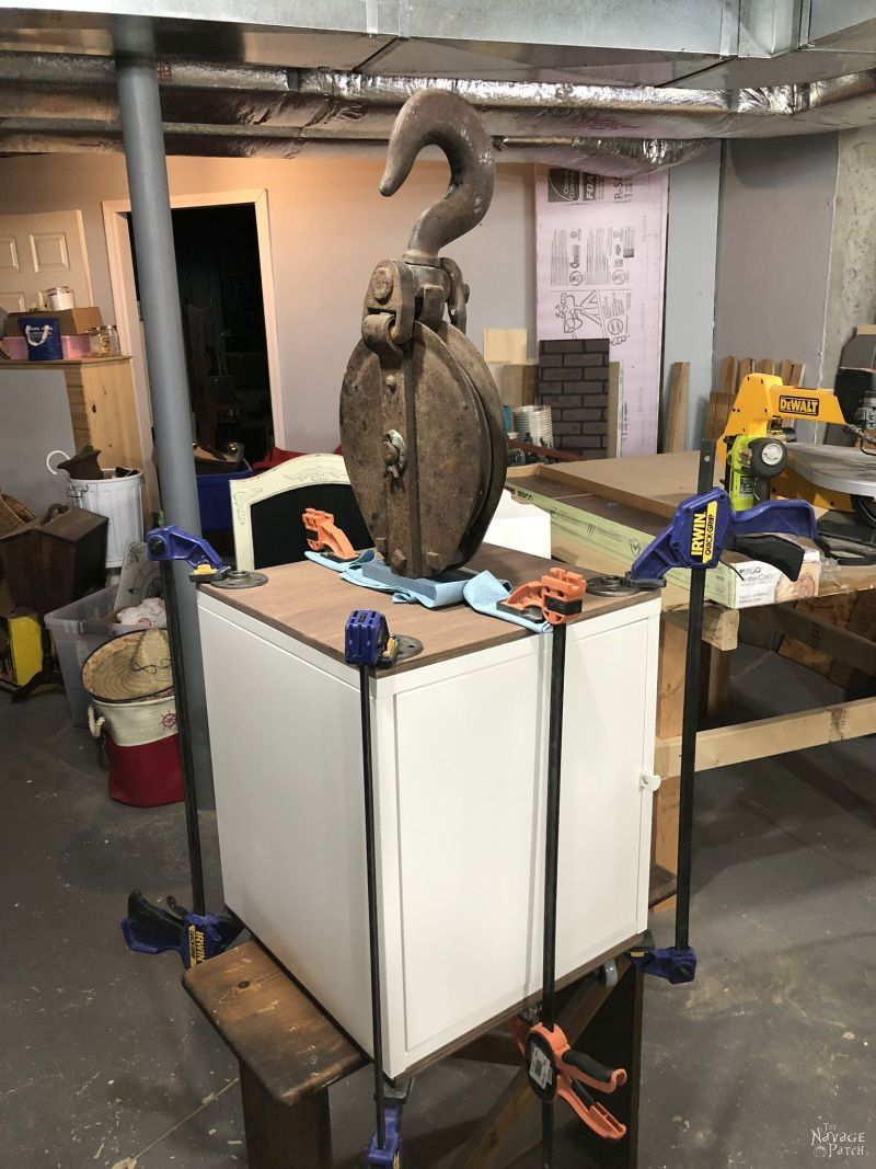 diy craft table build with clamps