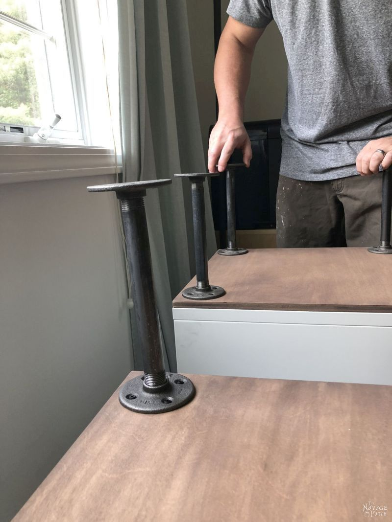 assembling an ikea hack diy craft table