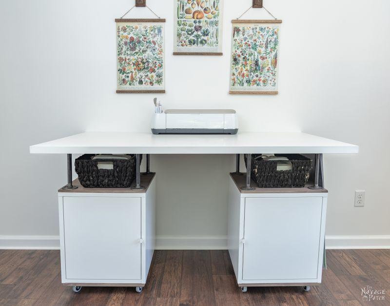 DIY Craft Table - IKEA Hack | TheNavagePatch.com