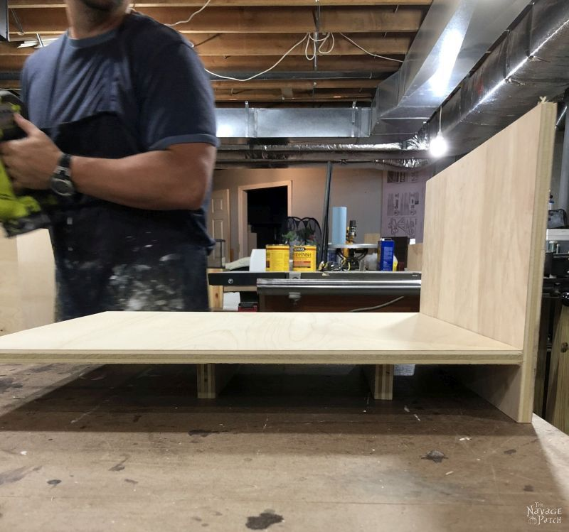 building a storage tower from plywood