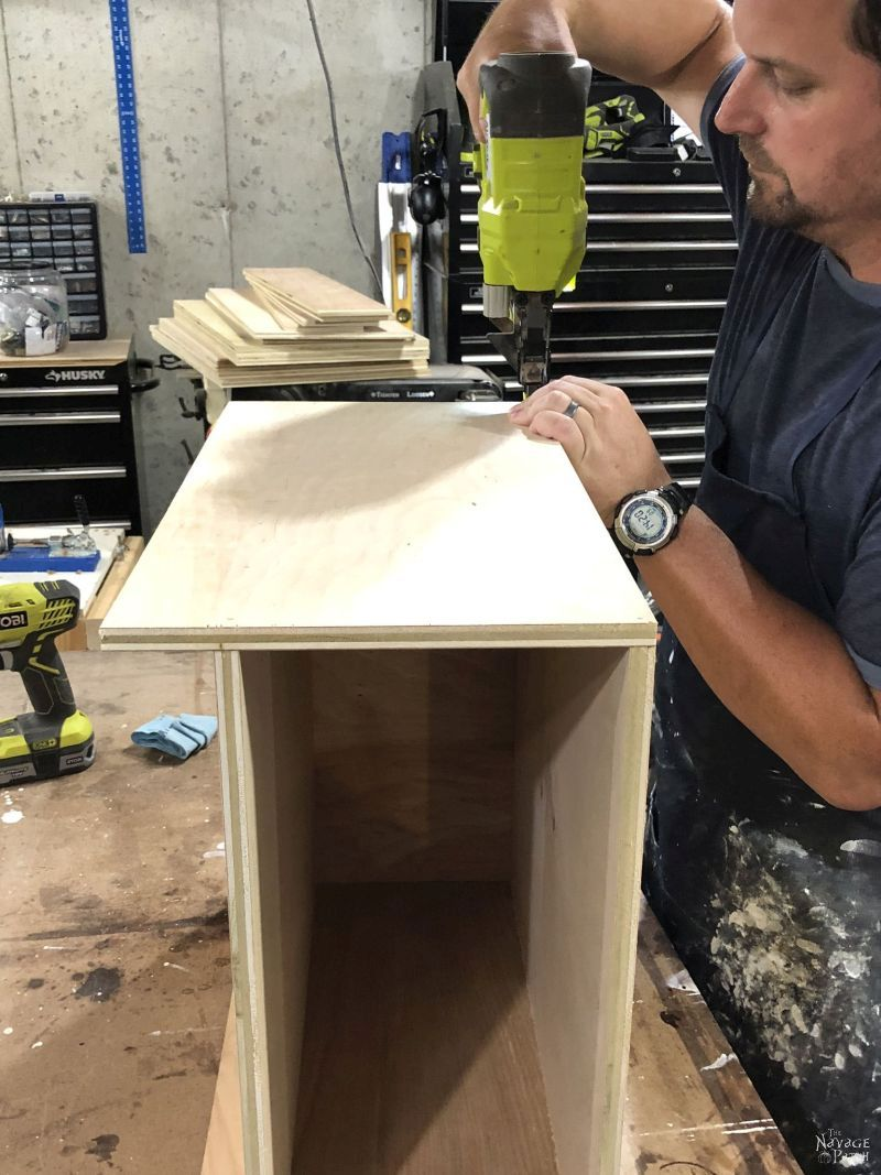 building a diy storage tower from plywood