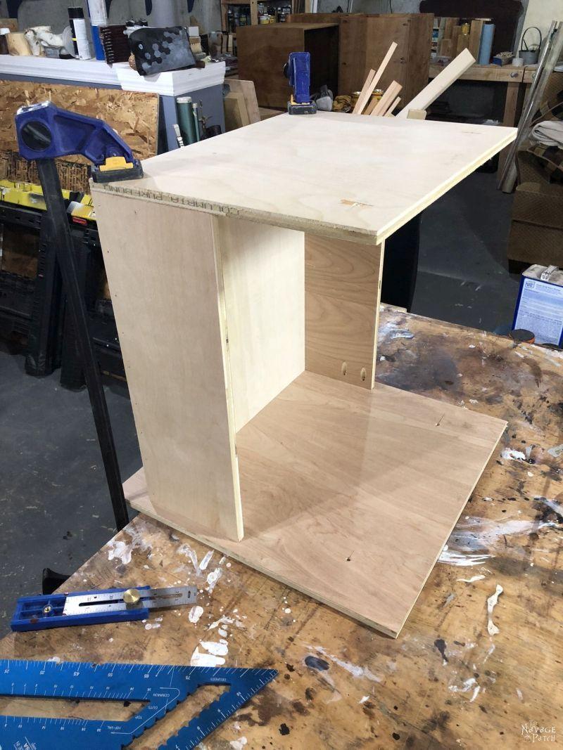 building a diy storage tower / industrial bookshelf