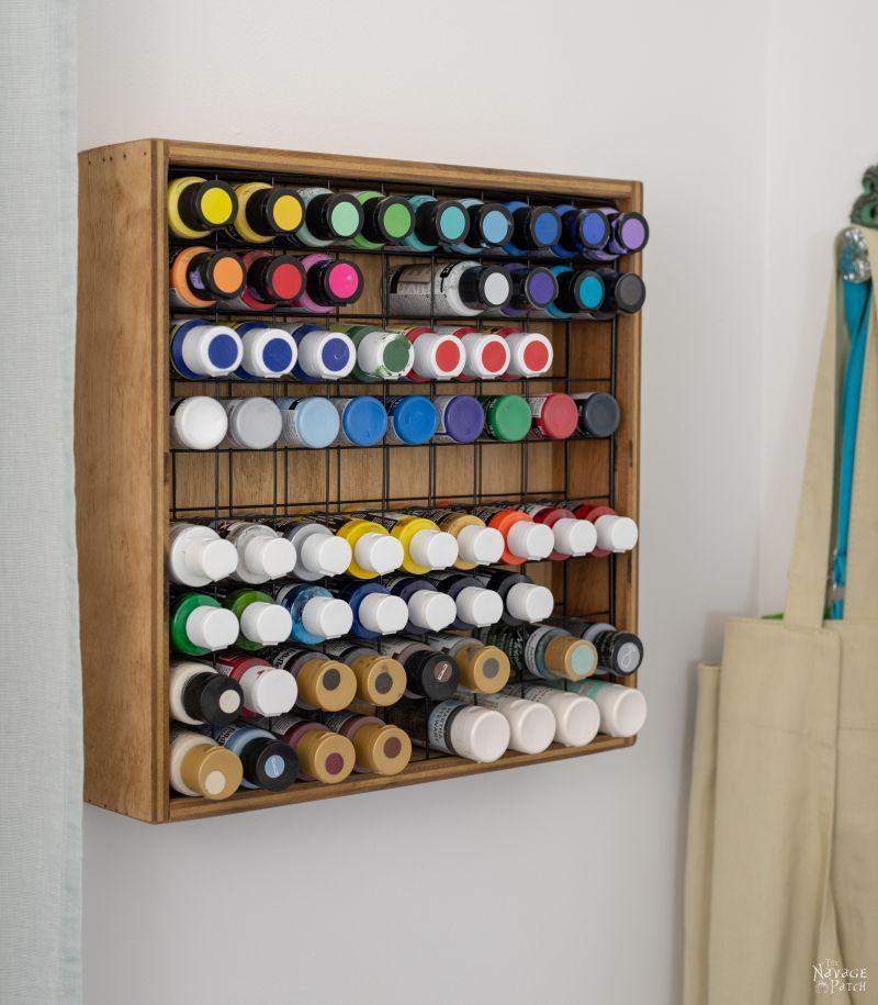 small paint bottle storage