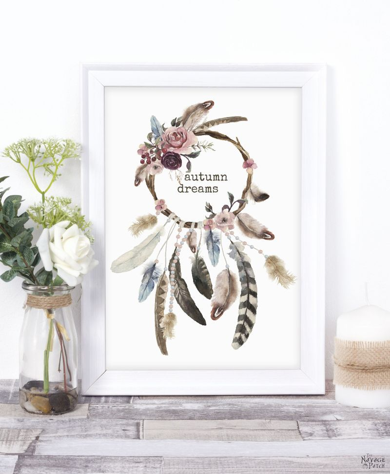 Free Watercolor Fall Printables by TheNavagePatch.com