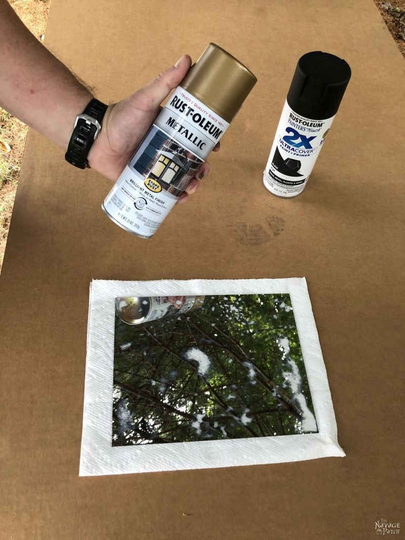 getting ready to spray paint antiqued mirrors