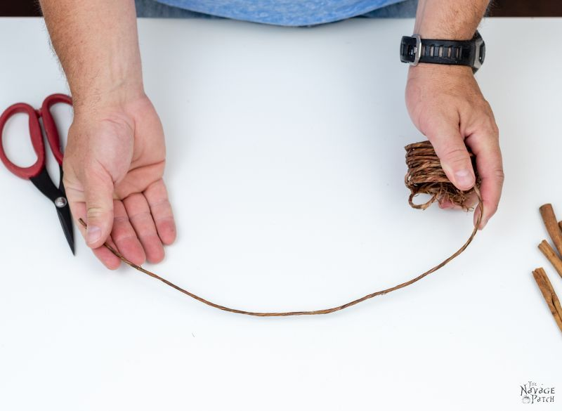 measuring a length of craft wire